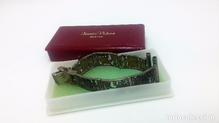 Recambios de relojes: Antigua correa o armis de plata maciza para reloj de pulsera - Foto 10 - 101950387