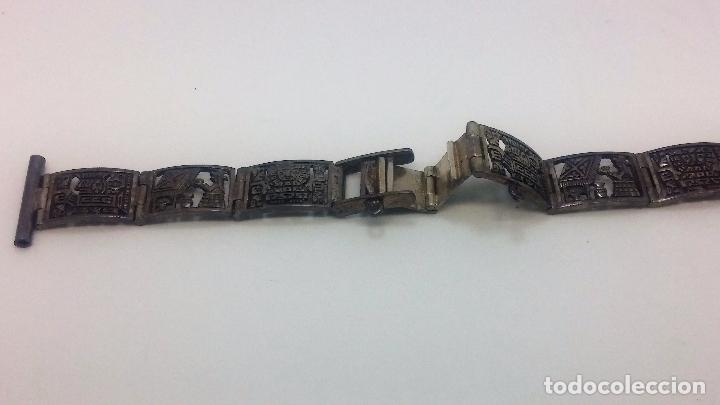 Recambios de relojes: Antigua correa o armis de plata maciza para reloj de pulsera - Foto 15 - 101950387