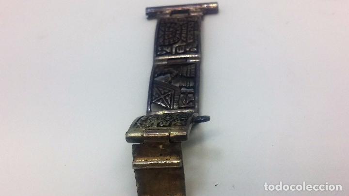 Recambios de relojes: Antigua correa o armis de plata maciza para reloj de pulsera - Foto 16 - 101950387
