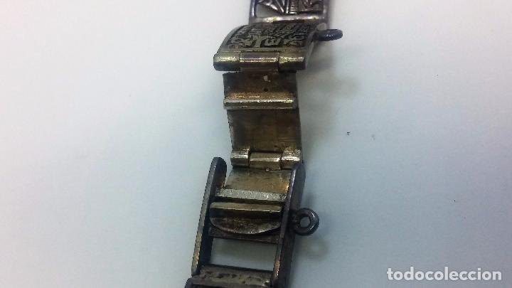 Recambios de relojes: Antigua correa o armis de plata maciza para reloj de pulsera - Foto 17 - 101950387