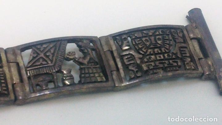 Recambios de relojes: Antigua correa o armis de plata maciza para reloj de pulsera - Foto 20 - 101950387