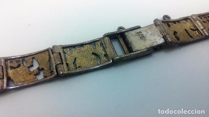 Recambios de relojes: Antigua correa o armis de plata maciza para reloj de pulsera - Foto 27 - 101950387