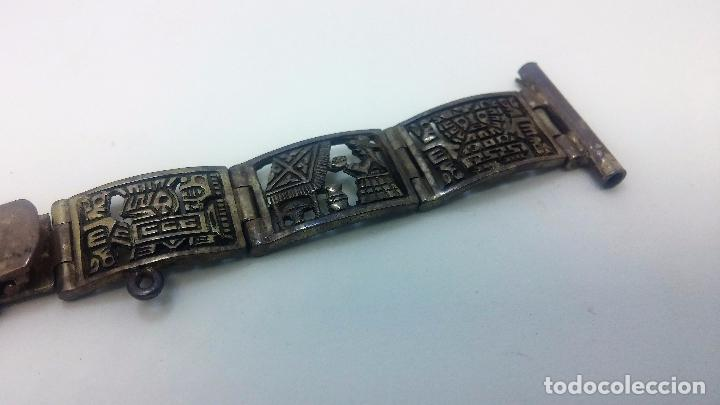 Recambios de relojes: Antigua correa o armis de plata maciza para reloj de pulsera - Foto 29 - 101950387