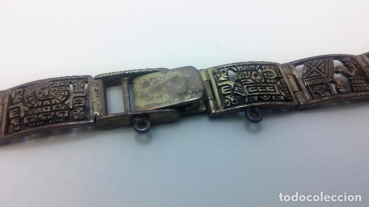 Recambios de relojes: Antigua correa o armis de plata maciza para reloj de pulsera - Foto 30 - 101950387