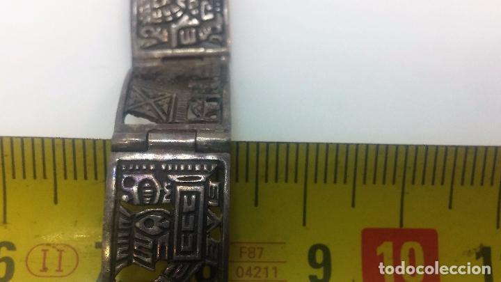 Recambios de relojes: Antigua correa o armis de plata maciza para reloj de pulsera - Foto 33 - 101950387