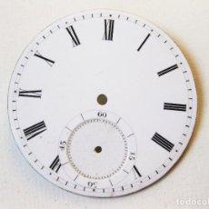 Recambios de relojes: ESFERA DE RELOJ ESMALTADA CON SECUNDERO. EN BUEN ESTADO.. Lote 103981483