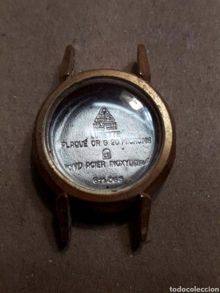 CAJA CUERPO RELOJ OMEGA CON CRISTAL CHAPADO EN ORO ORIGINAL AÑOS 60 (Relojes - Recambios)