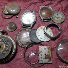 Recambios de relojes: LOTE RELOJES Y PIEZAS MUY ANTIGUAS ALGUNA DE FINALES 1800. Lote 107788534