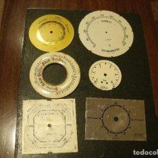 Recambios de relojes: 6 ESFERAS ANTIGUAS DE DISTINTO TAMAÑO- LOTE ESFERAS. Lote 108266807