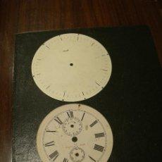 Recambios de relojes: 2 ESFERAS ANTIGUAS DESPERTADOR- LOTE ESFERAS. Lote 108267015