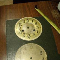 Recambios de relojes: 2 ESFERAS EN CHAPA RELOJ REGULADOR- LOTE ESFERAS. Lote 108267731