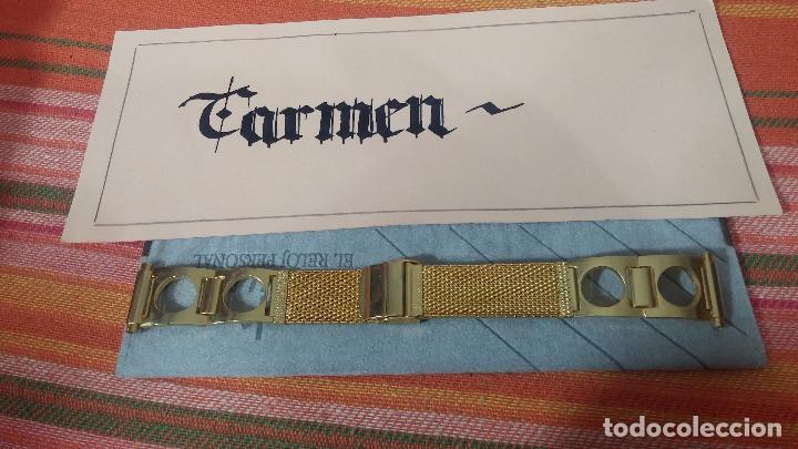 Recambios de relojes: Antiguo armis o correa para reloj dorado,adaptable, antiguo stock de tienda, estilo deportivo drive - Foto 2 - 108935307