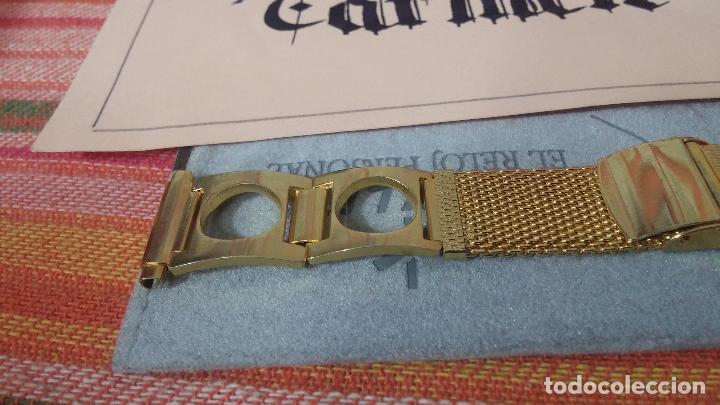 Recambios de relojes: Antiguo armis o correa para reloj dorado,adaptable, antiguo stock de tienda, estilo deportivo drive - Foto 3 - 108935307