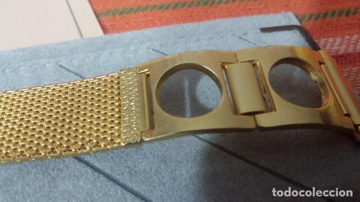 Recambios de relojes: Antiguo armis o correa para reloj dorado,adaptable, antiguo stock de tienda, estilo deportivo drive - Foto 5 - 108935307