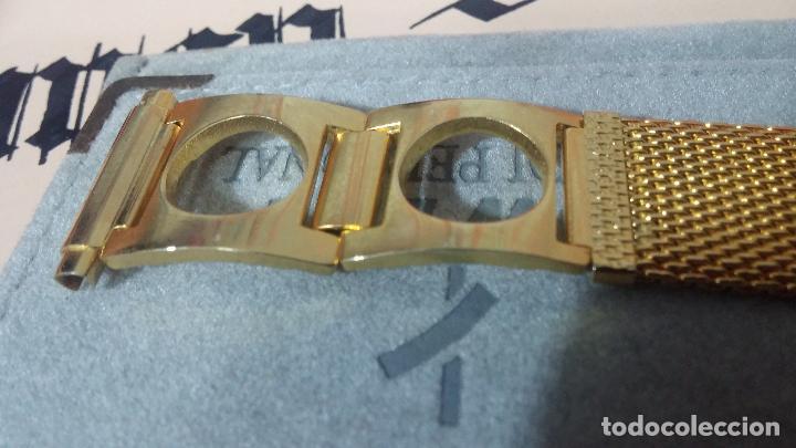 Recambios de relojes: Antiguo armis o correa para reloj dorado,adaptable, antiguo stock de tienda, estilo deportivo drive - Foto 6 - 108935307