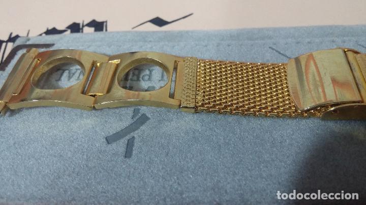 Recambios de relojes: Antiguo armis o correa para reloj dorado,adaptable, antiguo stock de tienda, estilo deportivo drive - Foto 7 - 108935307