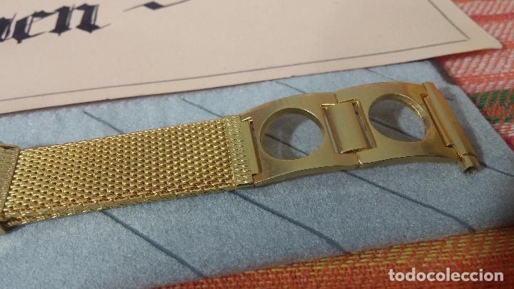Recambios de relojes: Antiguo armis o correa para reloj dorado,adaptable, antiguo stock de tienda, estilo deportivo drive - Foto 10 - 108935307
