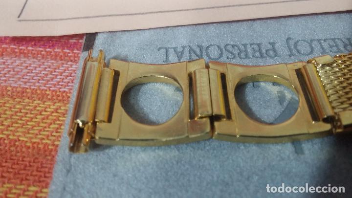 Recambios de relojes: Antiguo armis o correa para reloj dorado,adaptable, antiguo stock de tienda, estilo deportivo drive - Foto 13 - 108935307