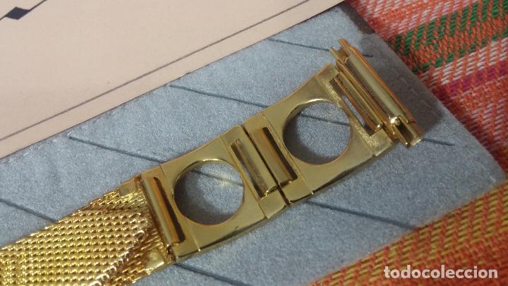 Recambios de relojes: Antiguo armis o correa para reloj dorado,adaptable, antiguo stock de tienda, estilo deportivo drive - Foto 14 - 108935307