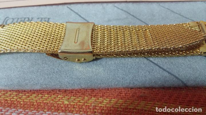 Recambios de relojes: Antiguo armis o correa para reloj dorado,adaptable, antiguo stock de tienda, estilo deportivo drive - Foto 15 - 108935307