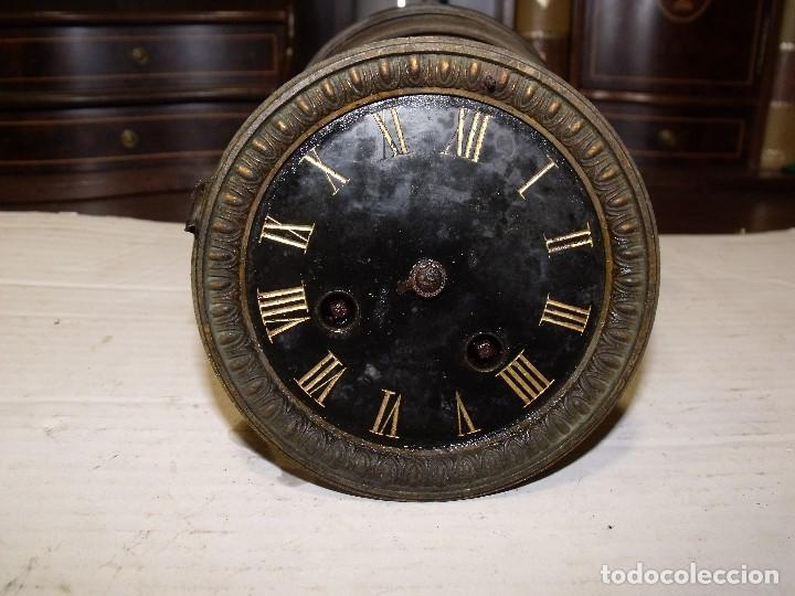 ANTIGUA MAQUINARIA PARIS PARA RELOJ SOBREMESA-AÑO 1878- LOTE 87-PARA RESTAURAR O PIEZAS (Relojes - Recambios)