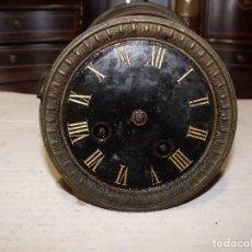 Recambios de relojes: ANTIGUA MAQUINARIA PARIS PARA RELOJ SOBREMESA-AÑO 1878- LOTE 87-PARA RESTAURAR O PIEZAS. Lote 111631411