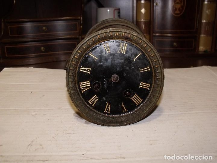 Recambios de relojes: Antigua maquinaria Paris para reloj sobremesa-año 1878- lote 87-para restaurar o piezas - Foto 2 - 111631411