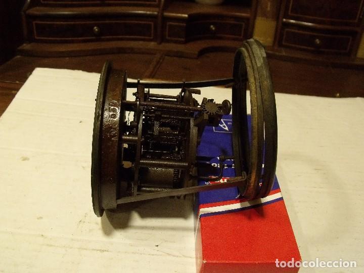 Recambios de relojes: Antigua maquinaria Paris para reloj sobremesa-año 1878- lote 87-para restaurar o piezas - Foto 3 - 111631411