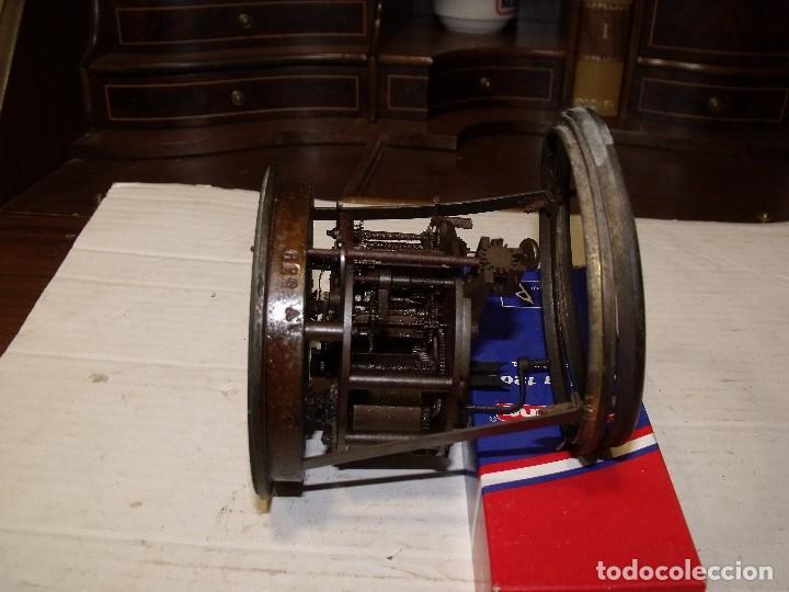 Recambios de relojes: Antigua maquinaria Paris para reloj sobremesa-año 1878- lote 87-para restaurar o piezas - Foto 4 - 111631411