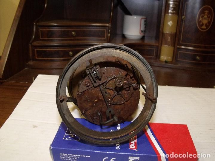 Recambios de relojes: Antigua maquinaria Paris para reloj sobremesa-año 1878- lote 87-para restaurar o piezas - Foto 5 - 111631411