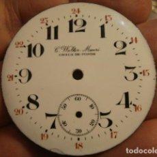 Recambios de relojes: PRECIOSA ESFERA DE PORCELANA MARCA C.WOLTER MOERI . Lote 112578167