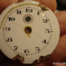 Recambios de relojes: ESFERA DE PORCELANA MARCA A. ROSSKOPF & CO - CON DEFECTOS. Lote 112578179
