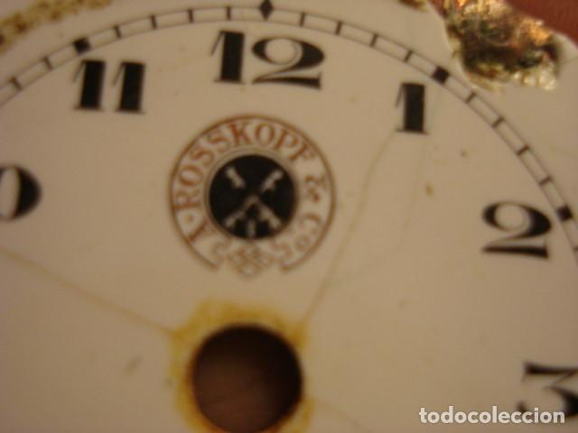 Recambios de relojes: ESFERA DE PORCELANA MARCA A. ROSSKOPF & CO - CON DEFECTOS - Foto 2 - 112578179