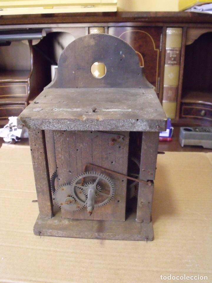 ANTIQUISIMA MAQUINARIA RELOJ RATERA DE LA SELVA NEGRA DE ALEMANIA- LOTE 89- AÑO 1840 (Relojes - Recambios)