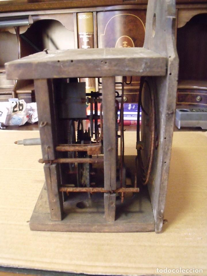 Recambios de relojes: antiquisima maquinaria reloj ratera de la selva negra de Alemania- lote 89- año 1840 - Foto 2 - 113083335