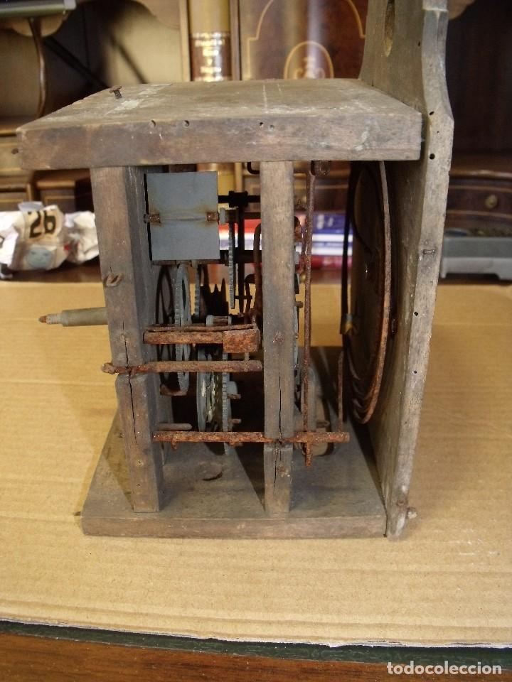 Recambios de relojes: antiquisima maquinaria reloj ratera de la selva negra de Alemania- lote 89- año 1840 - Foto 3 - 113083335