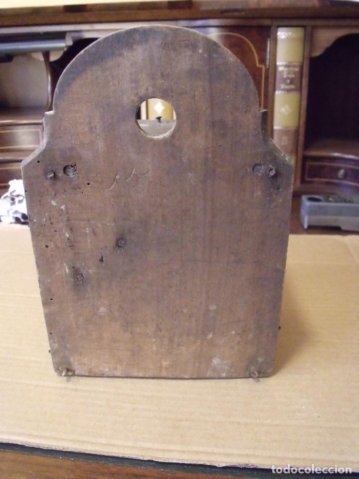Recambios de relojes: antiquisima maquinaria reloj ratera de la selva negra de Alemania- lote 89- año 1840 - Foto 4 - 113083335