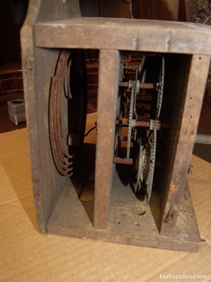 Recambios de relojes: antiquisima maquinaria reloj ratera de la selva negra de Alemania- lote 89- año 1840 - Foto 5 - 113083335