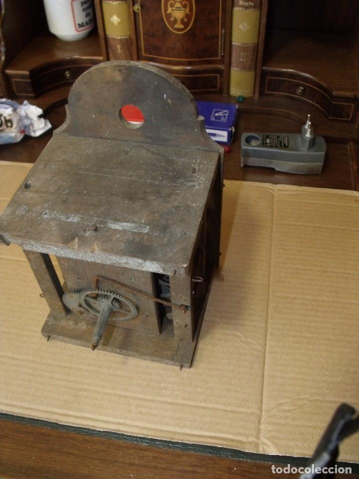 Recambios de relojes: antiquisima maquinaria reloj ratera de la selva negra de Alemania- lote 89- año 1840 - Foto 6 - 113083335