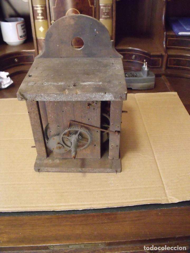 Recambios de relojes: antiquisima maquinaria reloj ratera de la selva negra de Alemania- lote 89- año 1840 - Foto 7 - 113083335