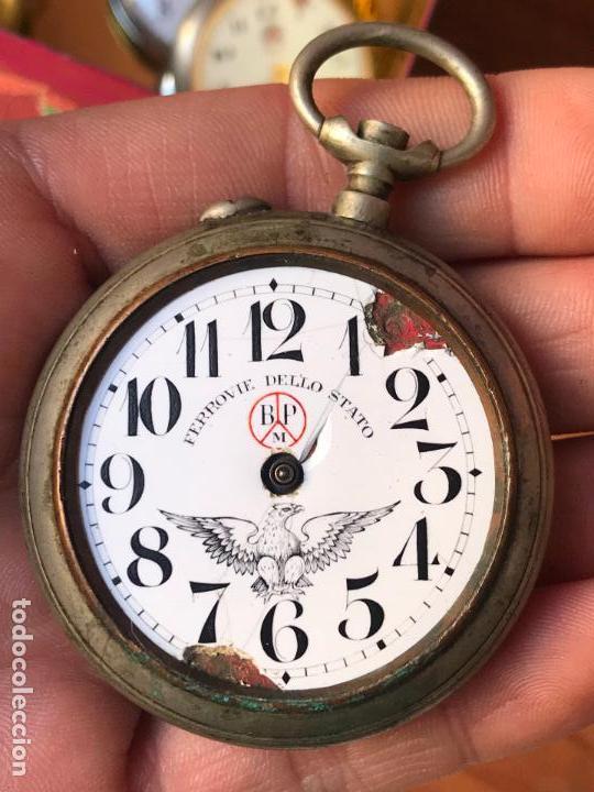 RELOJ DE BOLSILLO FERROVIE DELLO STATO - ITALIA ROSKOPF (Relojes - Recambios)