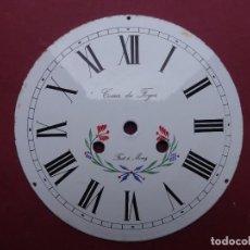 Recambios de relojes: ANTIGUA ESFERA DE PORCELANA DECORADA DE FLORES PARA RELOJ DE PESAS, MUY BUEN ESTADO- LOTE 3. Lote 115135551