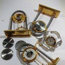 Recambios de relojes: LOTE DE PIEZAS DE RELOJES EN ACERO CON MAQUINARIAS. Lote 115083935