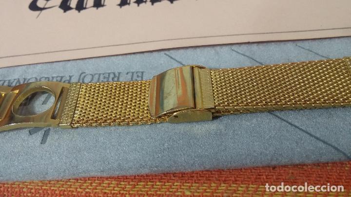 Recambios de relojes: Botito armis dorado estilo drivers, va desde 20mm a 15, stok de relojería antigua bien conservado - Foto 4 - 115584571