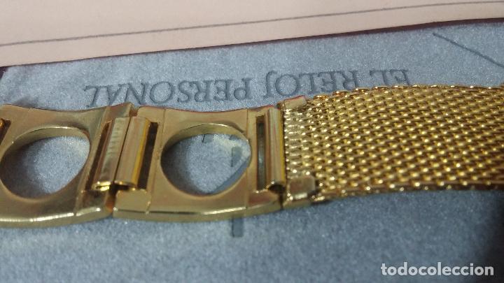 Recambios de relojes: Botito armis dorado estilo drivers, va desde 20mm a 15, stok de relojería antigua bien conservado - Foto 7 - 115584571