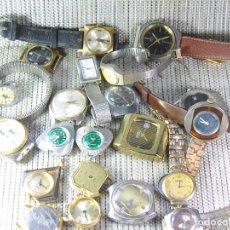 Recambios de relojes: LOTE DE 21 RELOJES MECANICOS Y BATERIA ANTIGUOS REPARAR O PIEZAS LOTE WATCHES. Lote 115973139