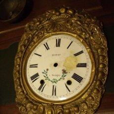 Recambios de relojes: FRONTAL CON ESFERA PARA RELOJ MOREZ DE PESAS - AÑO 1870- LOTE 2. Lote 116970779