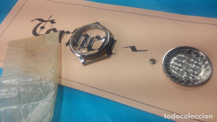 Recambios de relojes: Caja completa Omega, tapa trasera, corona y cristal todo sellado Omega, para reloj caballero - Foto 16 - 117388595