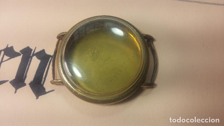 Recambios de relojes: Botita caja de reloj antiguo chapada en oro de 20M, con pasadores fijos, muy botita - Foto 13 - 117389783
