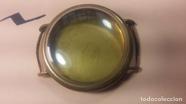 Recambios de relojes: Botita caja de reloj antiguo chapada en oro de 20M, con pasadores fijos, muy botita - Foto 17 - 117389783
